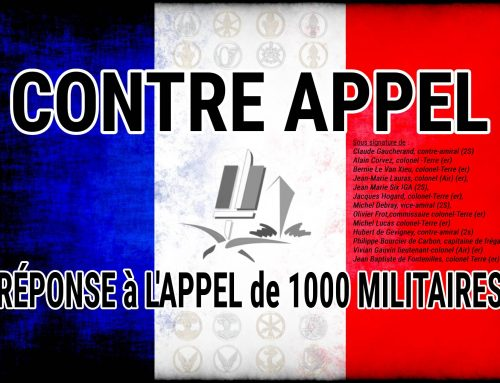 RÉPONSE à L'APPEL DE MILLE MILITAIRES – par le Contre Amiral Claude GAUCHERAND